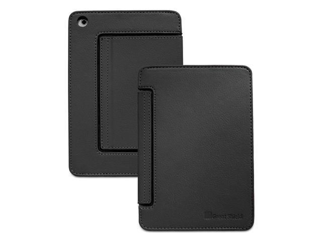 GreatShield VANTAGE Series Card-Holder Leather Case w/ Stand for Apple iPad Mini - Black