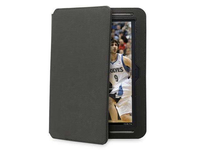 GreatShield LEAN Series Ultra-Thin Leather Keyboard Case for Samsung Galaxy Note 10.1 - Basketball Texture, Black