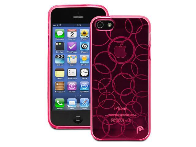 Fosmon DURA Series TPU Design Case for Apple iPhone 5 / 5S - Multi-Circle - Transparent Light Pink