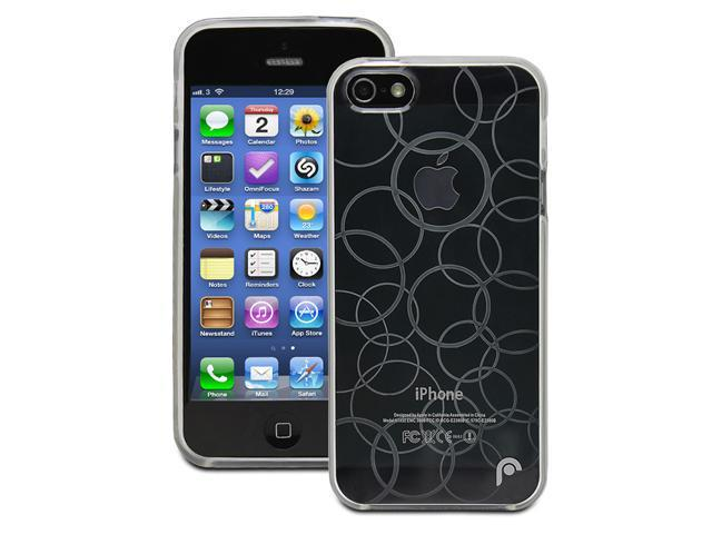 Fosmon DURA Series Multi-Circle Design TPU Case for Apple iPhone 5 / 5S - Clear