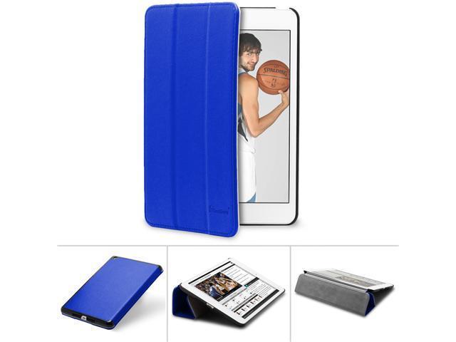 "GreatShield VANTAGE Series Hybrid Smart Cover Case with Sleep/Wake Function for Apple iPad Mini 7.9"" Tablet (Blue)"
