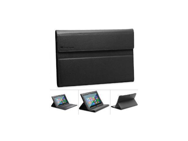 GreatShield VANTAGE Series Leather Folio Case Cover with Stand for Microsoft Surface Tablet Windows RT - Black