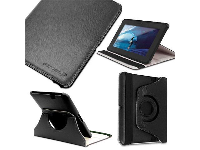 Fosmon GYRE Series 360 Degree Rotating Leather Case with Multi Angle Stand + Sleep / Wake Function for Amazon Kindle Fire ...