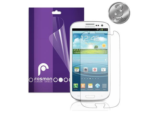 Fosmon Anti-Glare (Matte) Screen Protector Shield for the Samsung Galaxy S3 / S III - 3 Pack