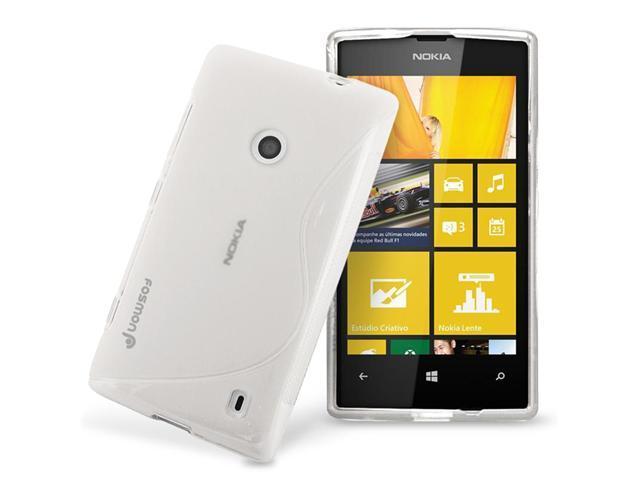 Fosmon TPU Flexible Case S-Shape Slim-Fit Design for Nokia Lumia 520 - Clear