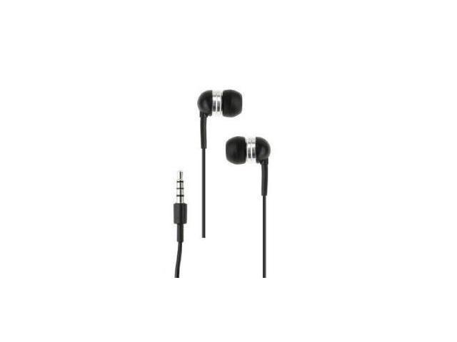 Fosmon Earbud Stereo Headset with Mic and Answer / End Call Button for HTC First - Black