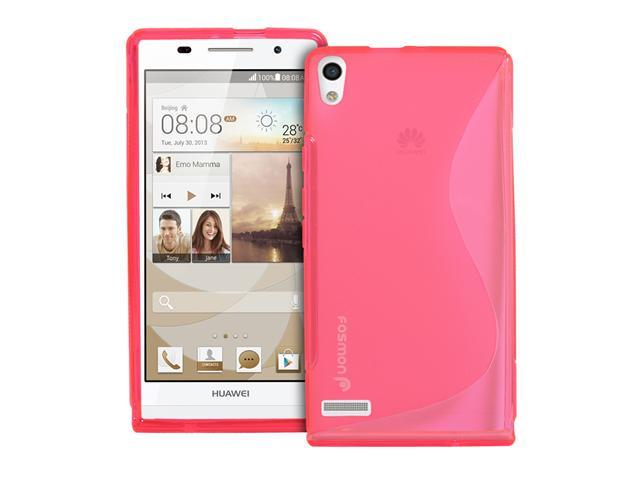 Fosmon DURA S Series Flexible SLIM-Fit TPU Case for Huawei Ascend P6 (Hot Pink)