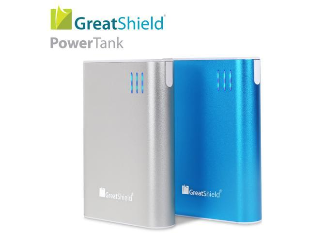 GreatShield PowerTank 10400mah Compact High Capacity Power Bank Portable External Battery Charger Pack (Dual 1.0A/2.1A USB ...