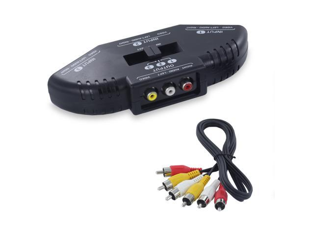 Fosmon Audio Video RCA Composite AV Video Game Selector Switch for XBox, XBOX 360, PS1, PS2, PS3, Gamecube, Wii, DVD, VCR