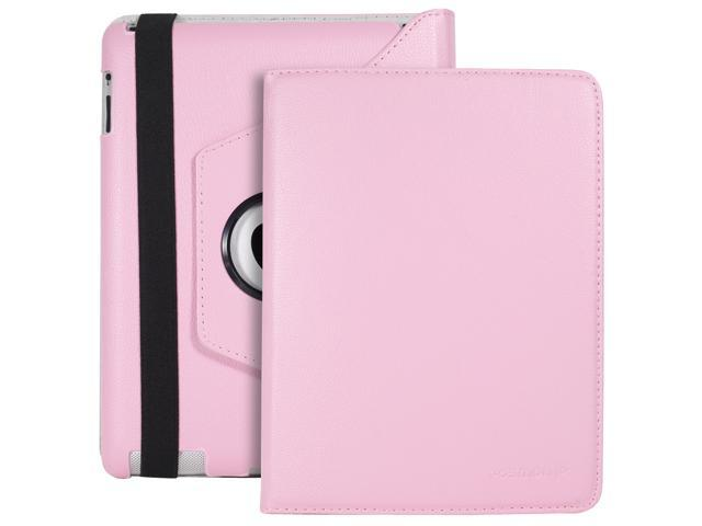 Fosmon Revolving Leather Case for Apple iPad 2 (Pink)