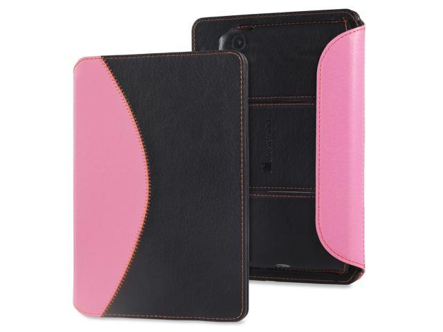 GreatShield LEAN Series Google Nexus 7 (2nd Generation Ultra Thin Keyboard Leather Case w/ Sleep/Wake Function - Black/Pink