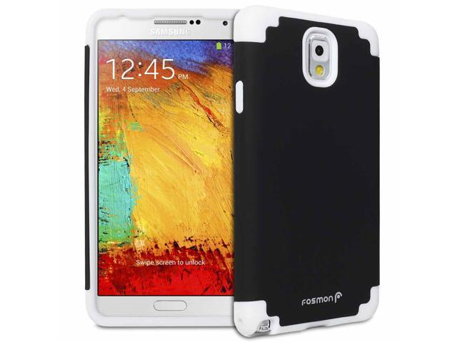 Fosmon HYBO-DUOC Series Detachable Hybrid Silicone + PC Case for Samsung Galaxy Note 3 / Note III