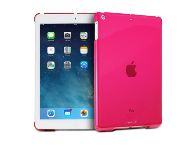 "Fosmon SLIM Series Smart Cover Companion Case for Apple iPad Air 9.7"" Tablet - Pink"