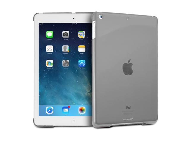 "Fosmon SLIM Series Smart Cover Companion Case for Apple iPad Air 9.7"" Tablet - Transparent Smoke"