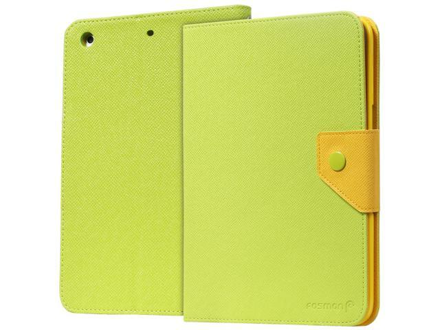 Fosmon Apple iPad Mini 2 with Retina Display, 2013 (OPUS-MIX) Two-Tone Leather Folio Case Cover with Sleep/Wake Function ...