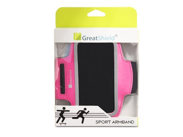 GreatShield FIT Stretchable Sport Fitness Gym Jogging Sweat Resistant Neoprene Armband with Key Storage for Apple iPhone ...