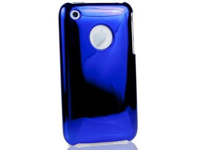 DragonFly Shine Polycarbonate Crystal Hard Case for Apple iPhone 3G / 3GS (Blue)