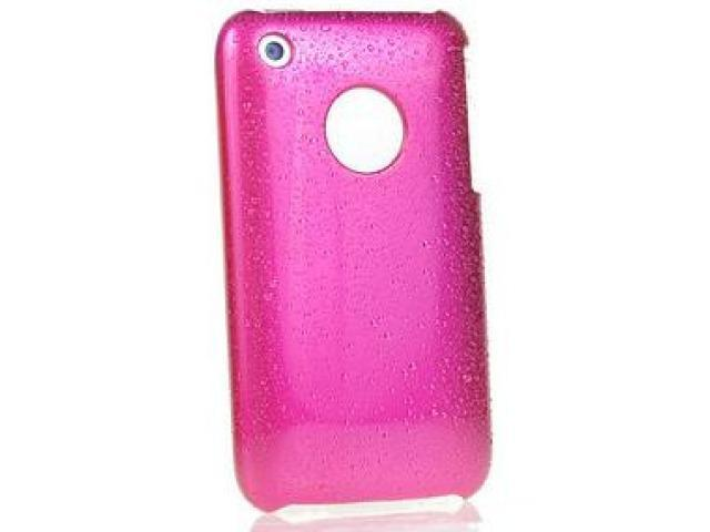 DragonFly Wet Shield Polycarbonate Crystal Hard Case for Apple iPhone 3G / 3GS (Hot Pink)