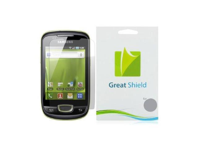 GreatShield Ultra Smooth Clear Screen Protector Film for Samsung Galaxy Mini S5570 (3 Pack)