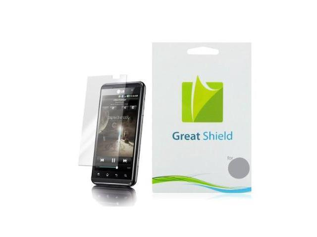 GreatShield Ultra Smooth Clear Screen Protector Film for LG Thrill 4G / LG Optimus 3D (3 Pack)