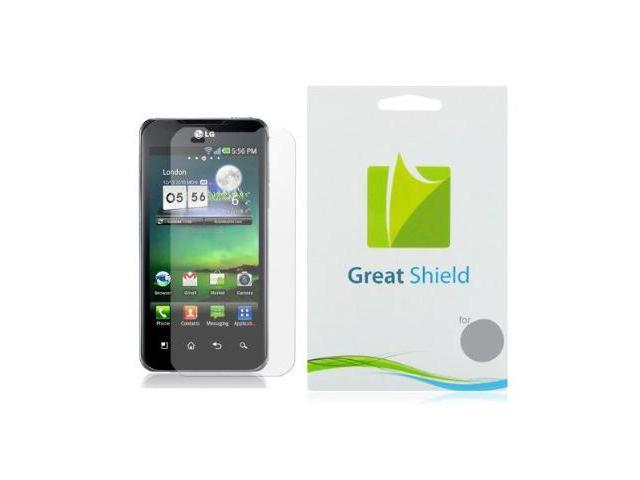 GreatShield Ultra Anti-Glare (Matte) Clear Screen Protector Film for LG G2X Optimus 2X (3 Pack)