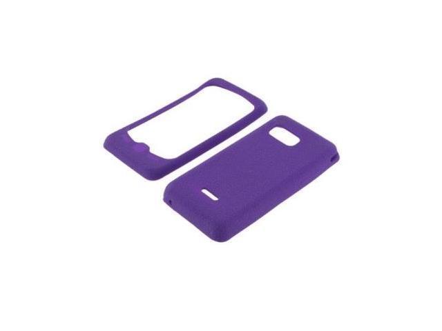 Fosmon Soft Silicone Case fits Samsung Moment M900- Purple