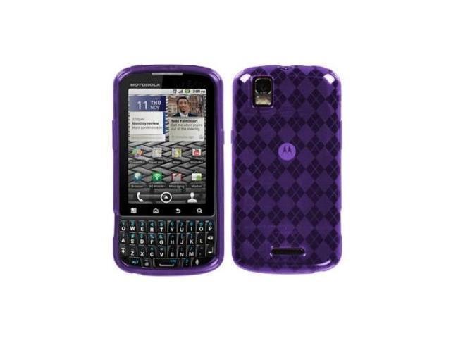 Fosmon TPU Skin Case for Motorola Droid XT610 (Argyle Pattern, Purple)