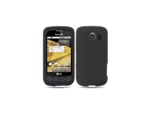 Fosmon Soft Silicone Case fits LG Optimus S LS670- Black
