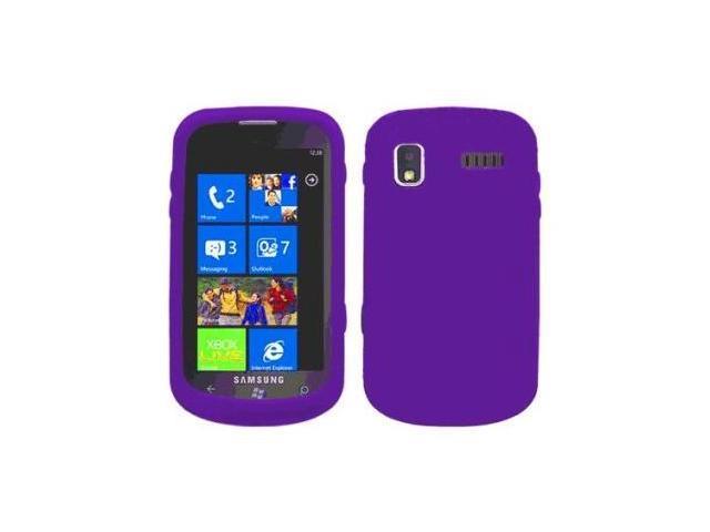 Fosmon Soft Silicone Case fits Samsung Focus SGH-i917- Purple