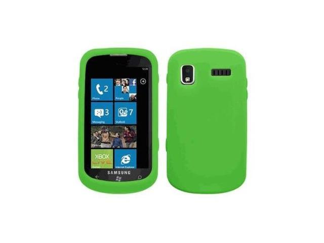 Fosmon Soft Silicone Case fits Samsung Focus SGH-i917- Green