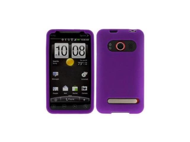 Fosmon Soft Silicone Case fits HTC EVO 4G- Purple