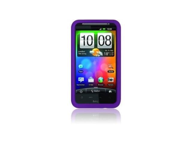 Fosmon Silicone Skin Case for HTC Thunderbolt (Purple)