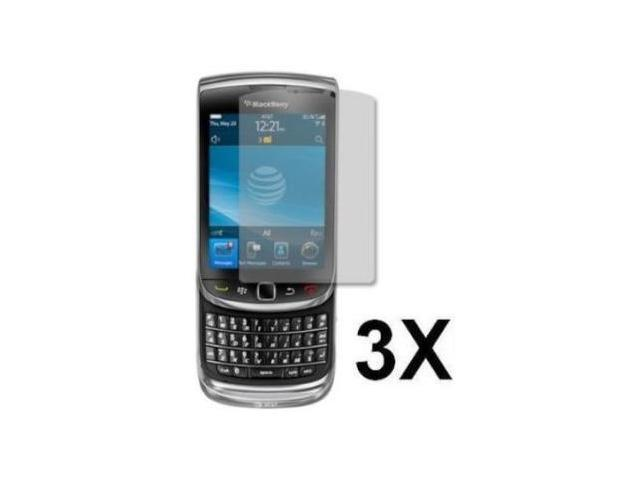 Fosmon 3 Pack Premium Quality Crystal Clear Screen Protectors for Blackberry Torch 9800