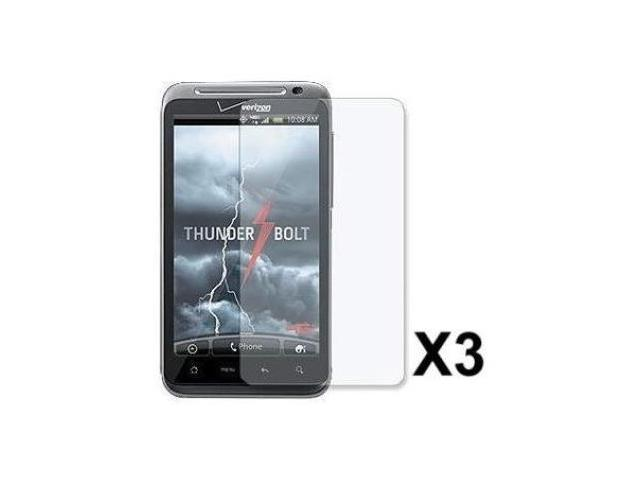 Fosmon 3 Pack Premium Quality Crystal Clear Screen Protector for HTC ThunderBolt