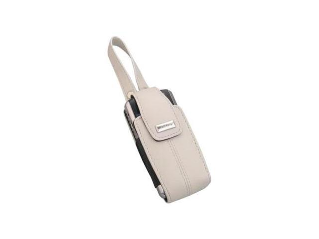 BlackBerry Lambskin Leather Tote for BlackBerry 8100, 8120 - Pearl White