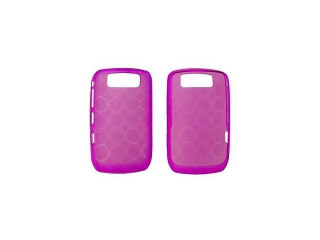Fosmon Silicone Skin for BlackBerry Curve 8900 / 9300 (Purple Bubble Design)