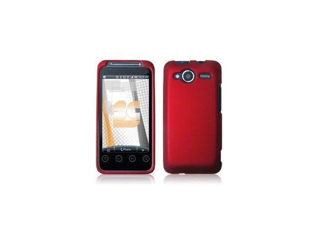 Fosmon Rubberized Hardshell Case for HTC EVO Shift 4G (Red)