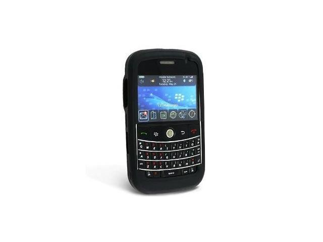 Fosmon Silicone Skin for BlackBerry Bold 9000 (Black)