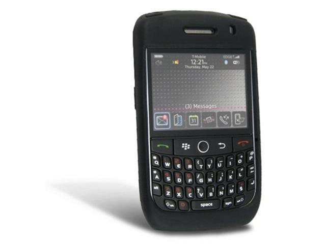 Fosmon Silicone Skin for BlackBerry Curve 8900 (Black)