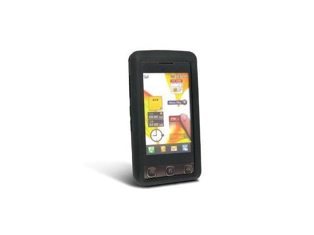 Fosmon Silicone Skin for LG KP500 Cookie (Black)