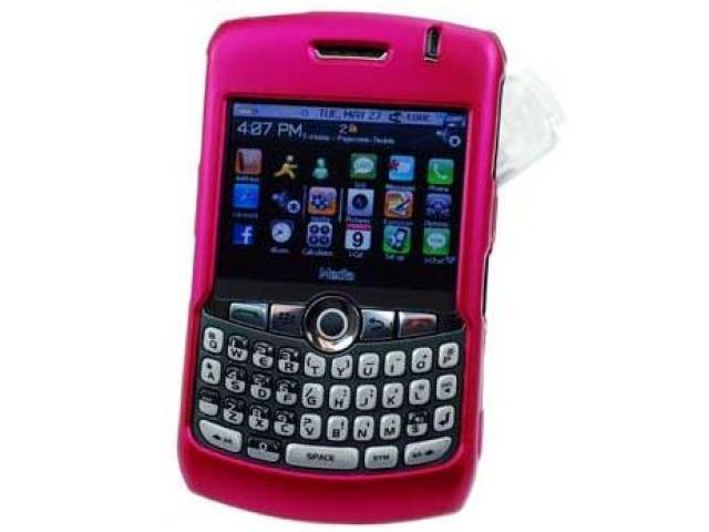 Cellet CCBLK8330HPK Proguard Rubberized Coated Shield with Swivel Clip for BlackBerry 8300 8310 8320 8330 Curve - Hot Pink