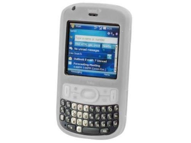 Cellet SCTRE800CL Jelly Case Silicone Case fits Palm Treo 800w - White Clear