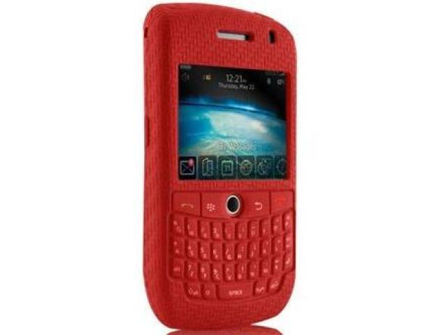 Case-Mate Smart Skin Silicone Case for Blackberry Curve 8900 - Red