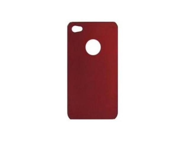 Fosmon Premium Quality Back Cover Snap On Hard Rubberized Case for AT&T Apple iPhone 4G- Red
