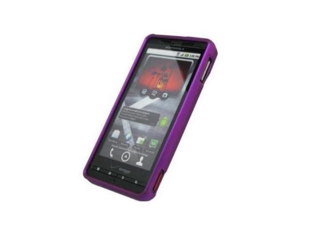 Fosmon Rubberized Protective Case fits Motorola Droid X MB810- Purple