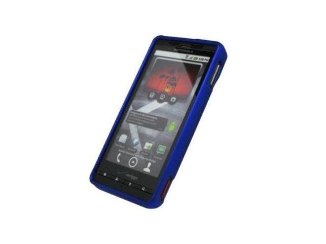 Fosmon Rubberized Protective Case fits Motorola Droid X MB810- Blue