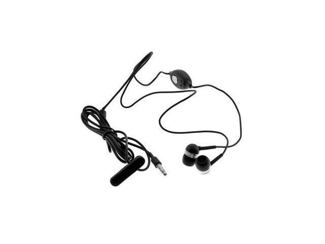 3.5mm Stereo headset fits Apple iPhone Recessed Jack and most 3.5mm devices - Black
