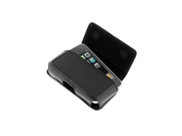 Fosmon Horizontal Black Leather Case for Apple iPhone 3G, iPhone 3G S