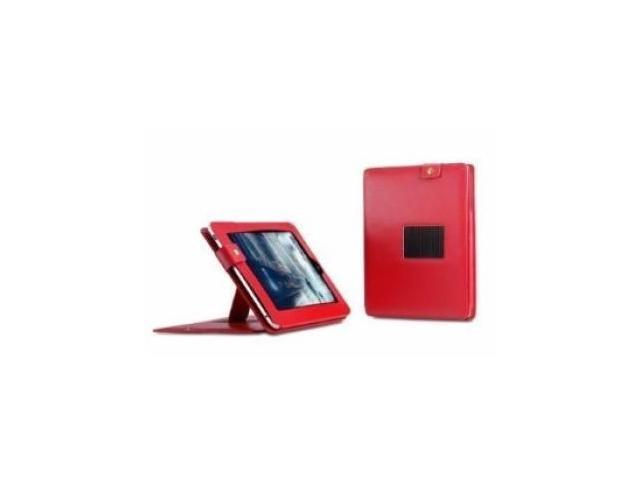 Fosmon Leather Folio Case with Stand for Apple iPad 2nd Gen (Red)