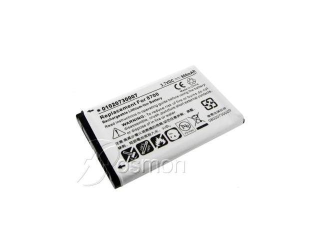 900mAh Battery fits BlackBerry 8700, 8700c, 8700f, 8700g, 8700v, 8707, 8707g, 8700t, 8700x, 8700r, 8703e, 8705g, 8700r, 8707v series